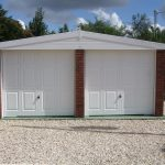A White Double Apex garage - garages-direct